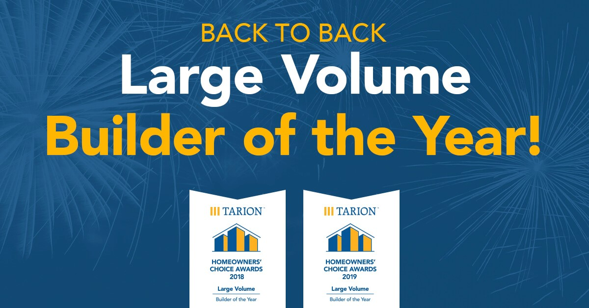 Tarion Large Volume Build of the Year Award!