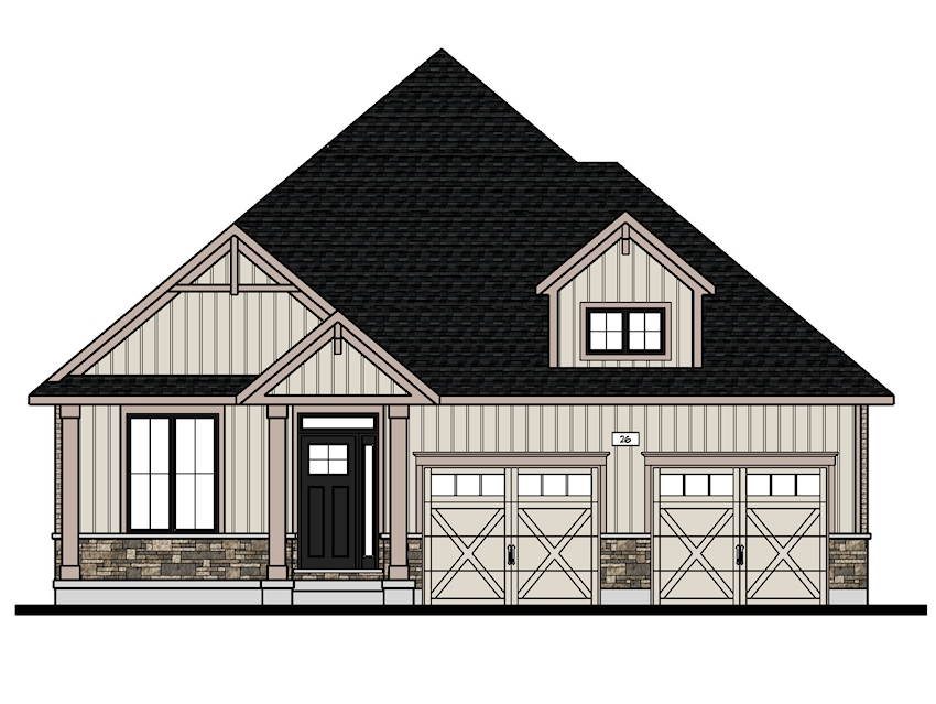 The Kentfield to be built at 26 Victoria Way, Tillsonburg.