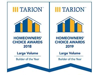 Hayhoe Homes is Tarion Back to Back Homeowners Choice Award Winner!