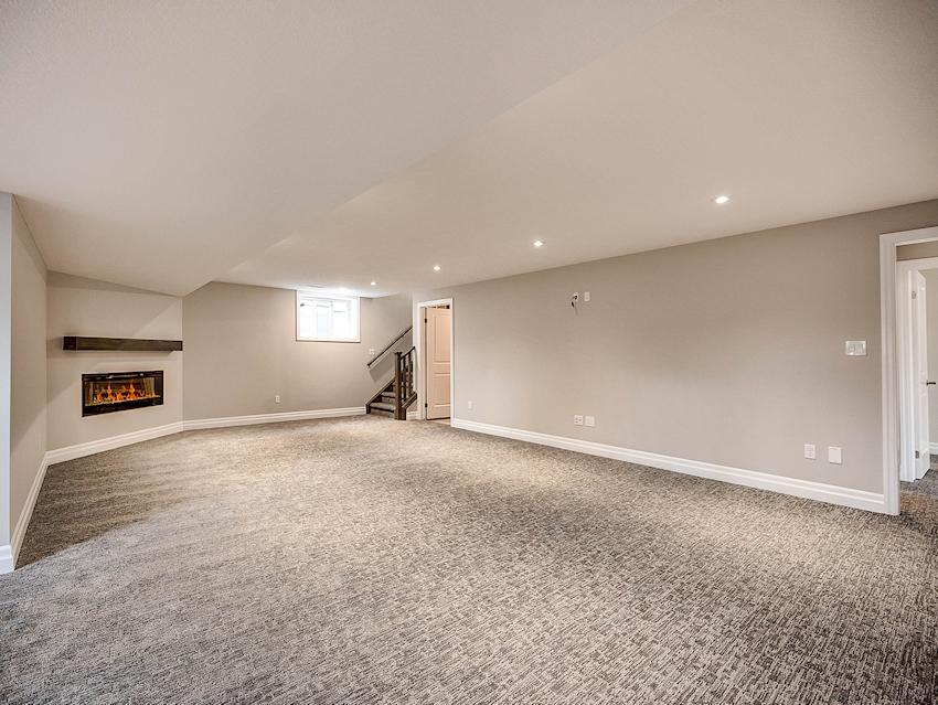Basement Family Room *exact features & finishes shown in photos will vary from the Berkley at 45 Lowrie Cres*