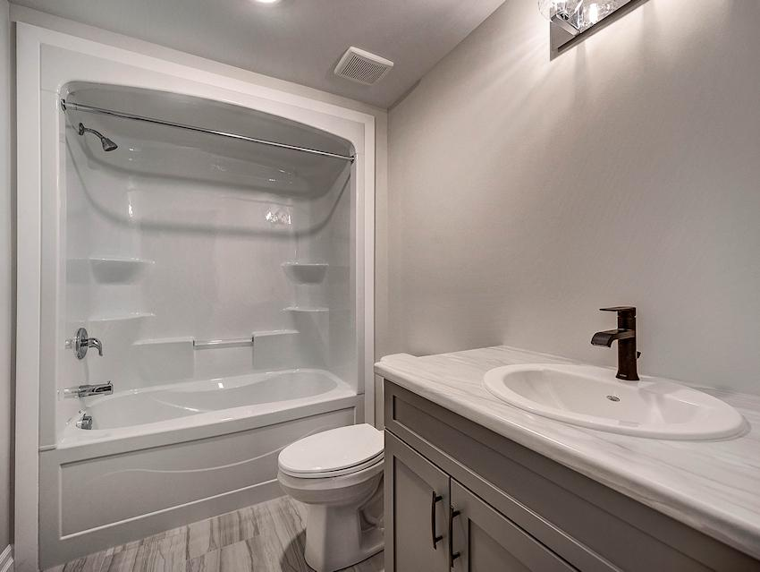 Basement Bath *exact features & finishes shown in photos will vary from the Berkley at 45 Lowrie Cres*