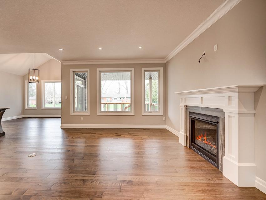 Great Room *exact features & finishes shown in photos will vary from the Berkley at 45 Lowrie Cres*