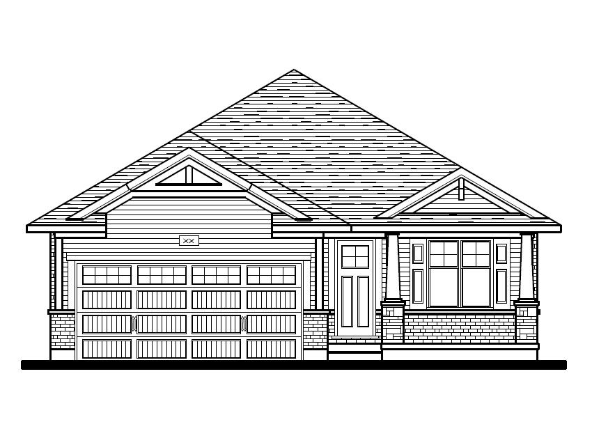 Breckwell Front Elevation Option 2 - Craftsman