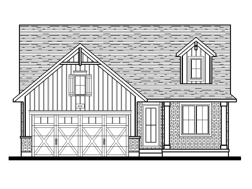 Breckwell Front Elevation Option 3 - Farmhouse