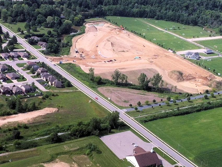 Photo of Glendale West prior to roads being installed.
